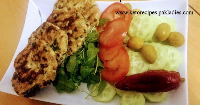 Keto Chicken Spinach Kebab