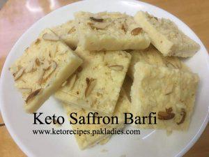 Keto Saffron Barfi